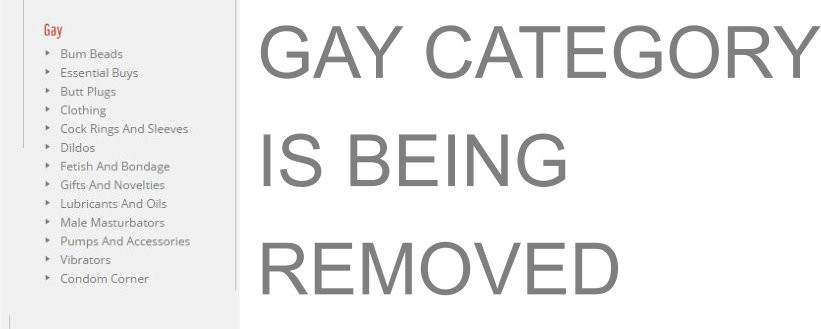 GAY CATEGORY REMOVAL